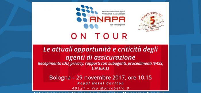 ANAPA on Tour e 5° ANNIVERSARIO – Bologna, 29 novembre 2017