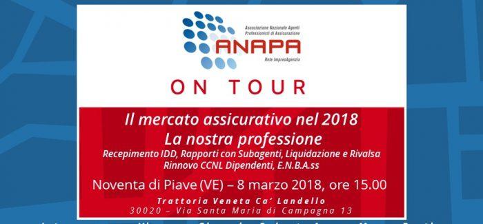 ANAPA on Tour – Veneto e Friuli Venezia Giulia, 8 marzo 2018