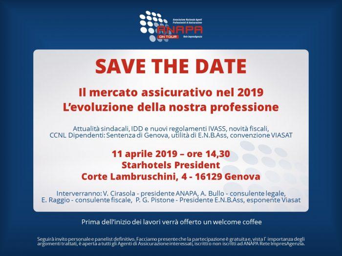 ANAPA on Tour – Genova, 11 aprile 2019